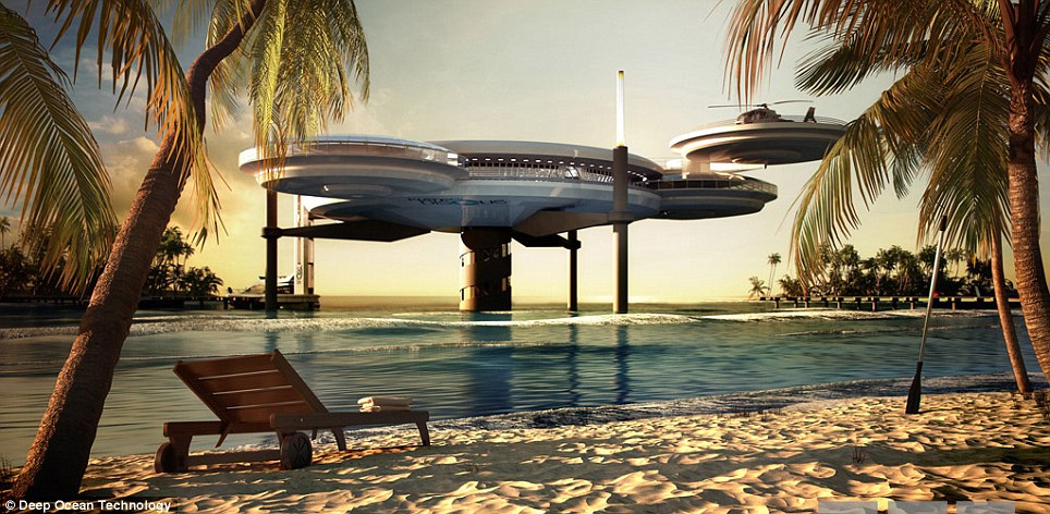 spaceship hotel maldives