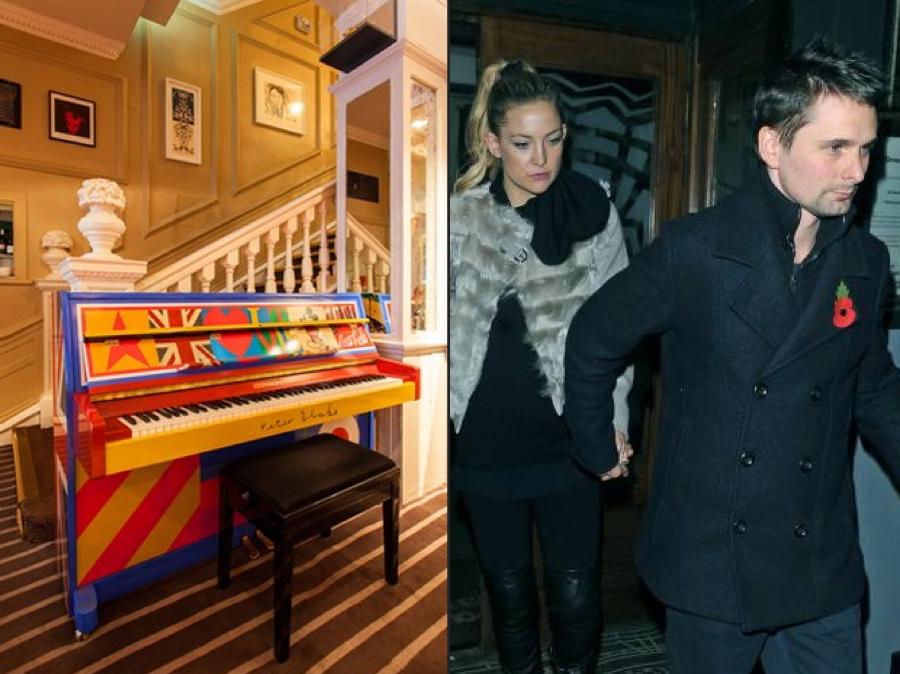 Kate Hudson Matt Bellamy Groucho Club London England