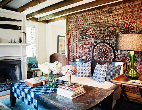 6 Use Colorful Rugs As Wall Art