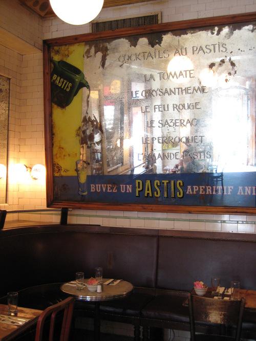 Pastis NYC mirror menu