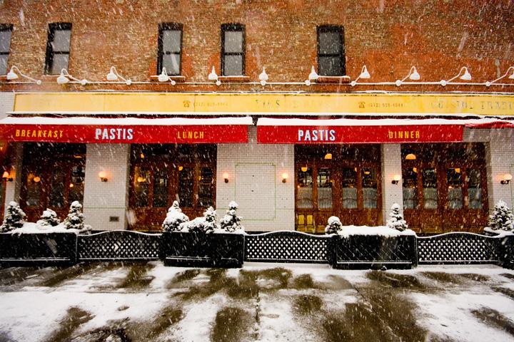 Pastis NYC snow