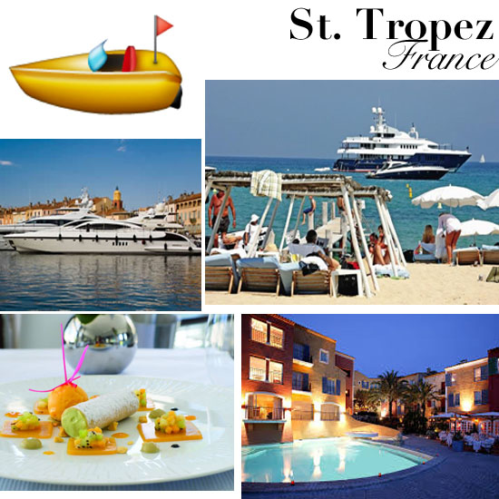 Travel Like Emoji St. Tropez