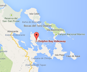map dolphin bay hideaway panama