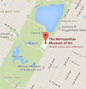 Map The Met Museum Nyc Catalog Of Cool Places