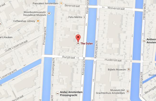 map dylan hotel amsterdam