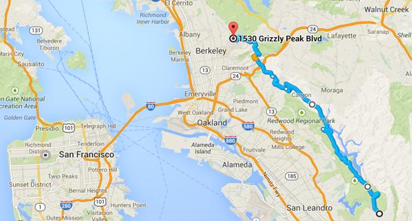 map redwood california motorcycle ride