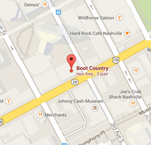 map boots country nashville tennessee