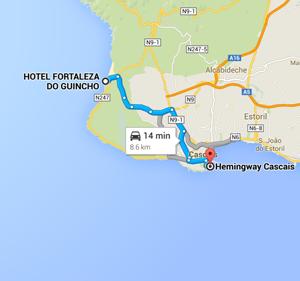 map cascais portugal hemingway restaurant - Jetset Times on