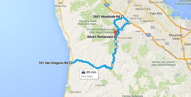 map jetset drive highway 84 san francisco