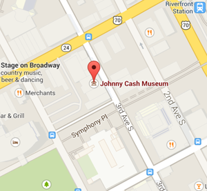 map johnny cash museum nashville tennessee