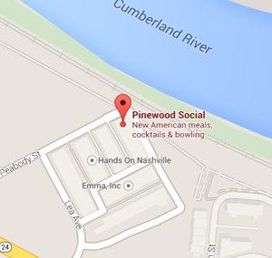map pinewood social nashville tennessee