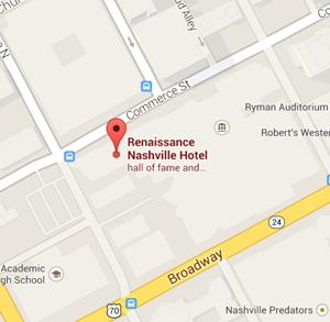 map Renaissance Hotel Nashville Tennessee
