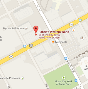 map robert's nashville tennessee