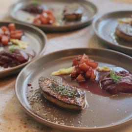 Pan-seared foie gras