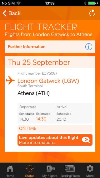 easyJet app flighttracker - Jetset Times