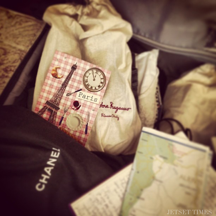 packing luggage shoe bags maps