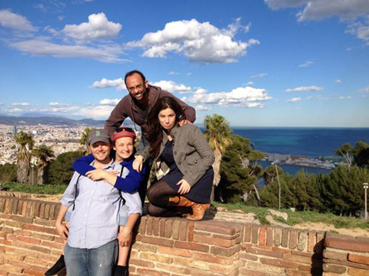 Barcelona with Nurua and Carles who we met on New Years