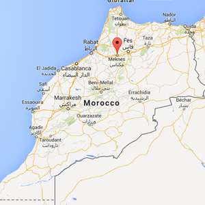 Map Meknes Morocco Jetset Times