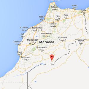 map Mhamid Morocco