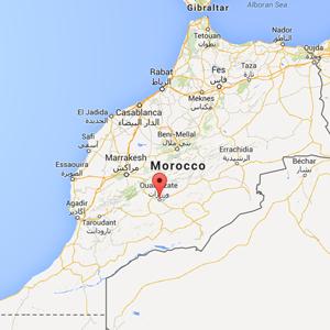 Map - Ouarzazate, Morocco