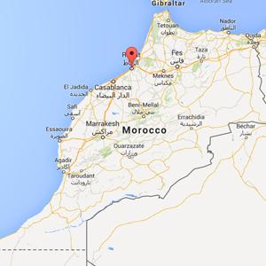 map rabat morocco