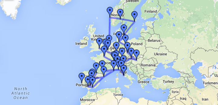 google my maps europe trip 2012 jetset times catalog of cool places