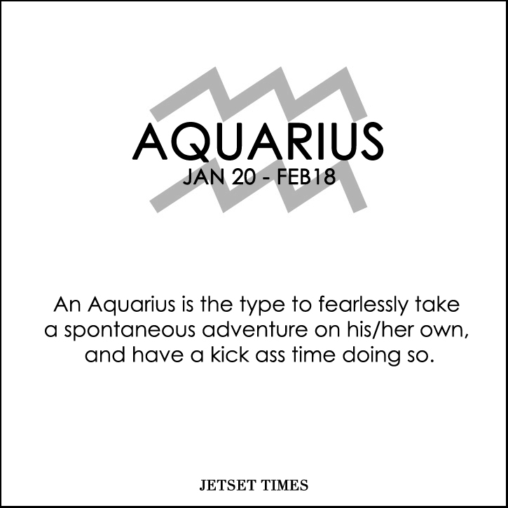 Travel Horoscope Aquarius