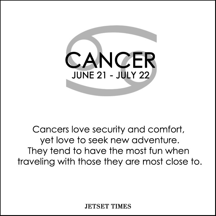 Travel Horoscope Cancer