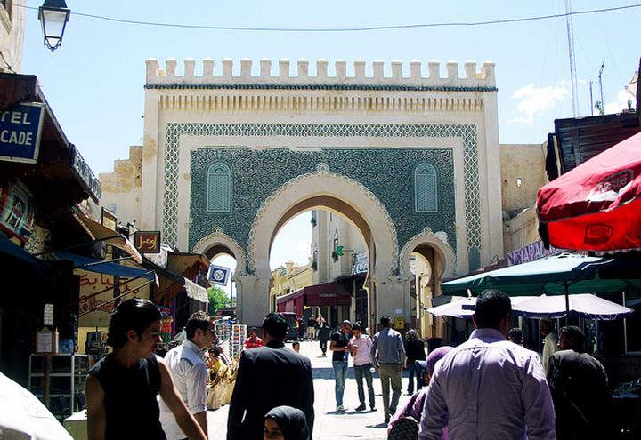 Flickr Anthony Knuppel blue gate fez morocco