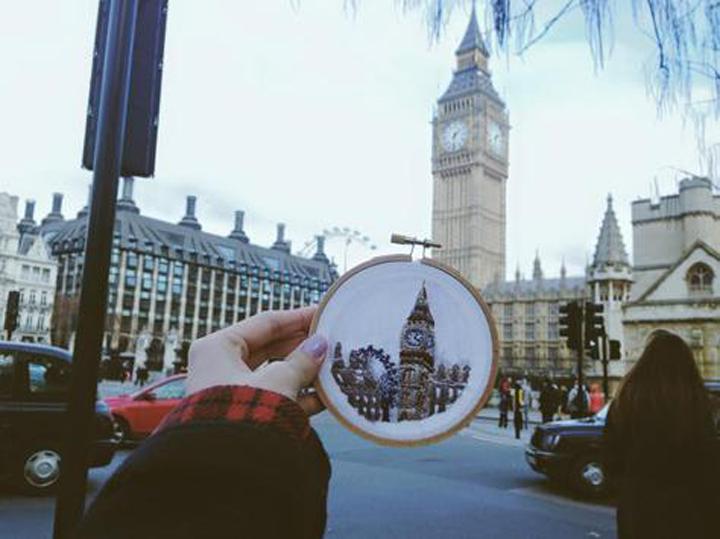 teeteeheehee.com Teresa Lim canvas sew big ben london