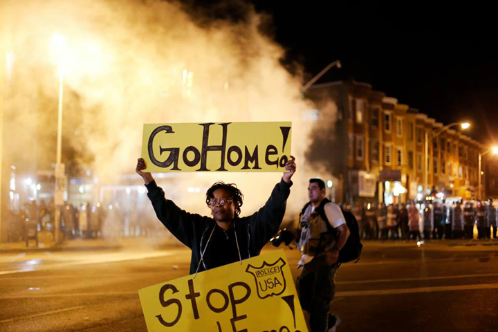 2 Baltimore Protest