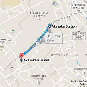 map kikunoi tokyo japan restaurant