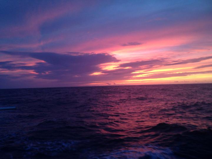 Azures sailing sunset