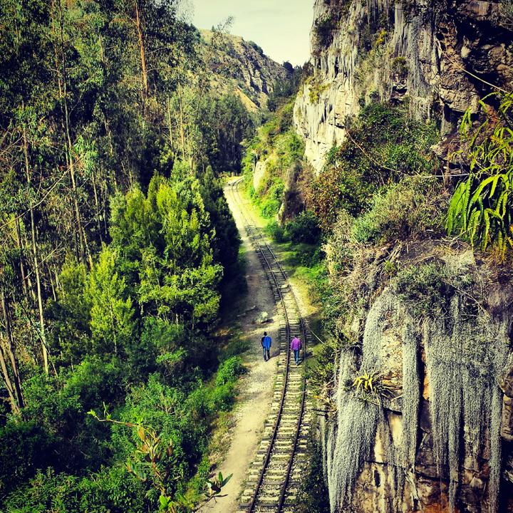 Suesca Colombia railroad