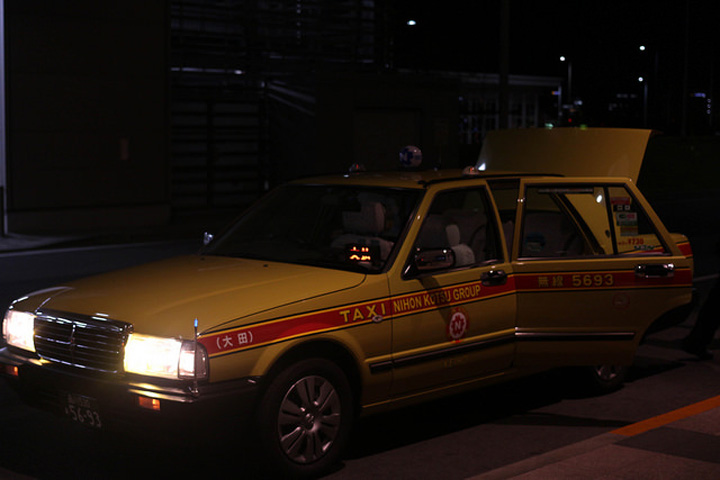 Flickr Matthew Guay Tokyo taxi airport