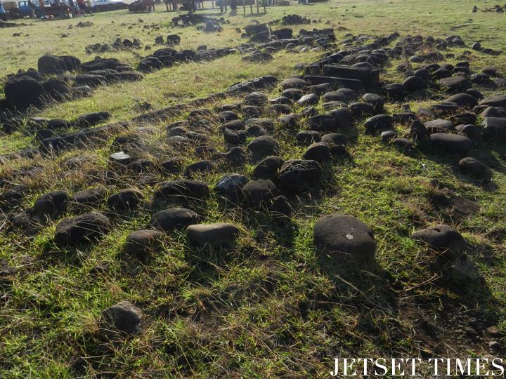 1 Remnants of a Rapa Nui home, Easter Island