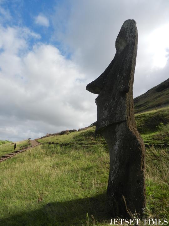 12 Profile view of a moai, Easter Island