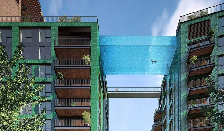 Facebook Embassy Gardens London sky pool