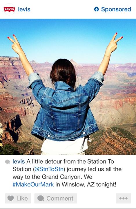 levis instagram sponsored ad