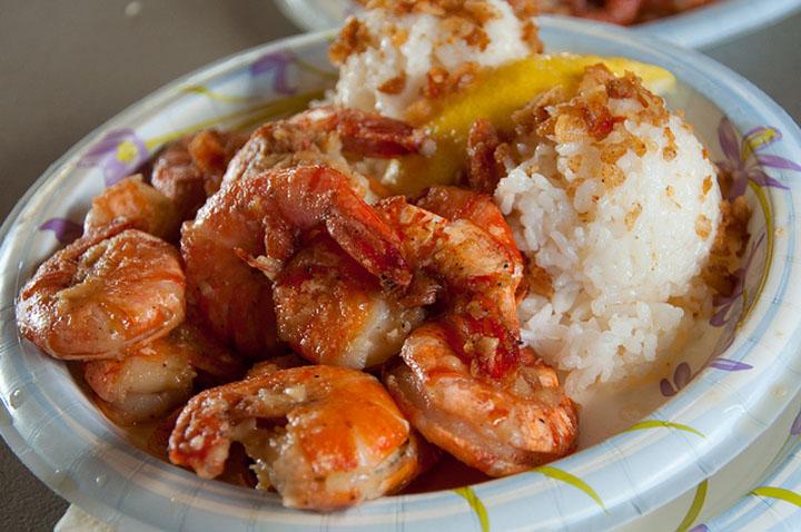 Hawaii food shrimp scampi