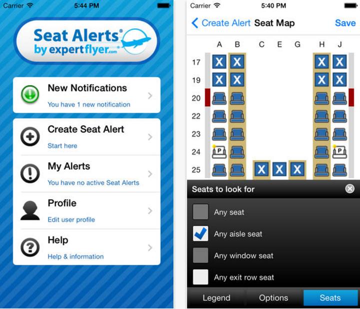 Seat Alerts travel app