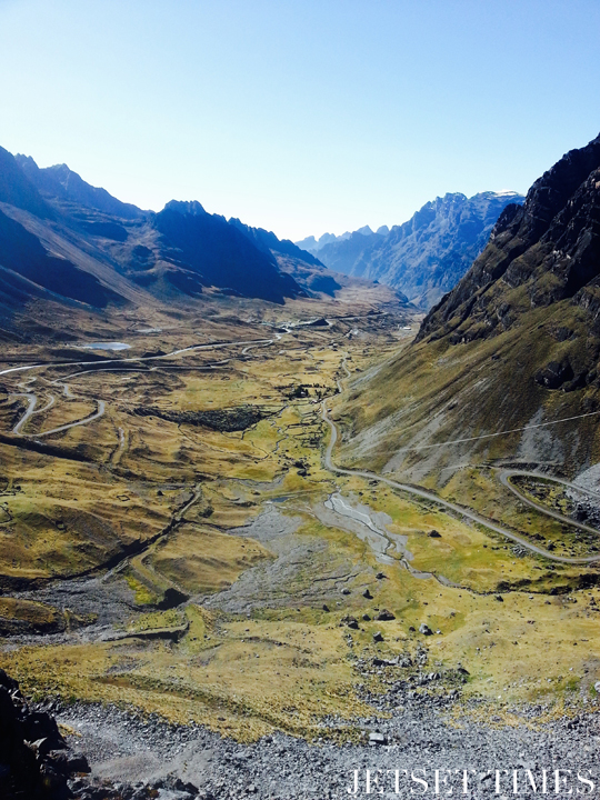 10 View of Yungas Road seen from the start of our ride. Bolivia