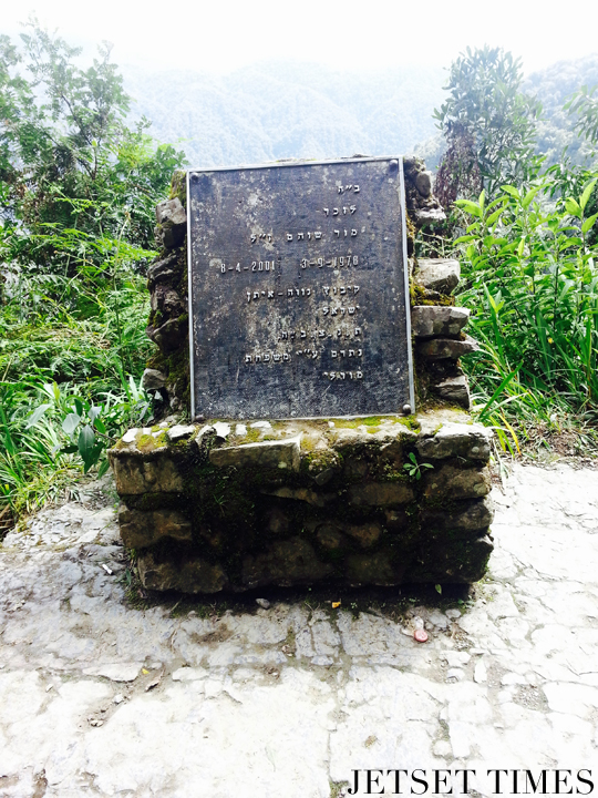 7 Gravestone memorial to an Israeli woman who died in 2001. A sober reminder for us all. Bolivia