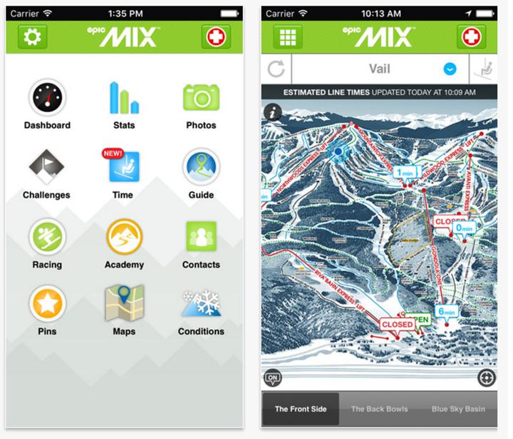 EpicMix app ski