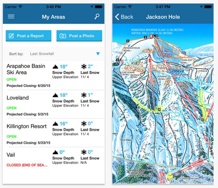 OnTheSnow app ski