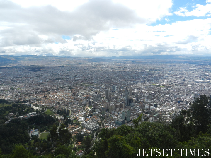 View of Bogotá, capital of Colombia, from atop Cerro de Monserrate