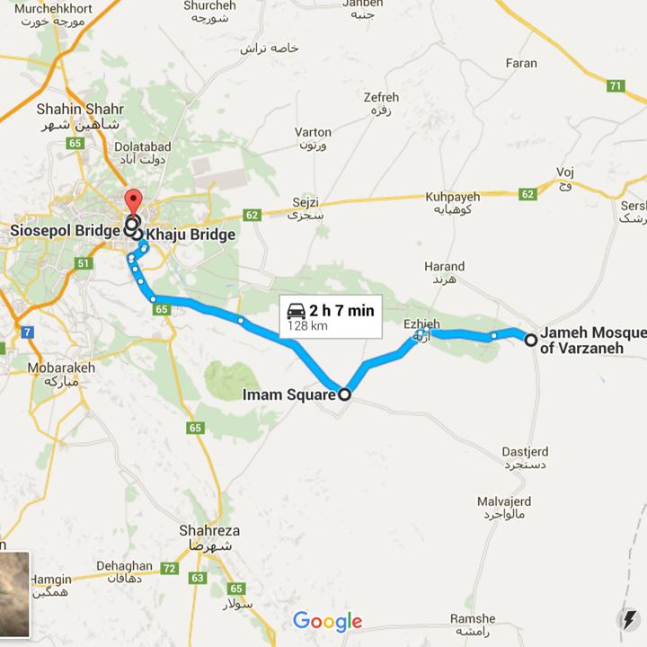 map Isfahan Iran must-see top 5 - Jetset Times