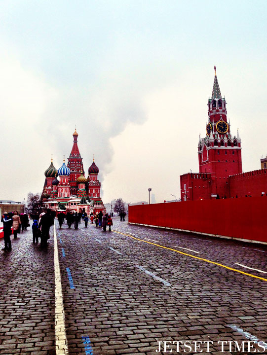 Red Square St Basil's Cathedral, Moscow Russia