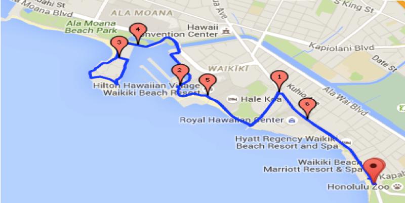 map oahu fitness