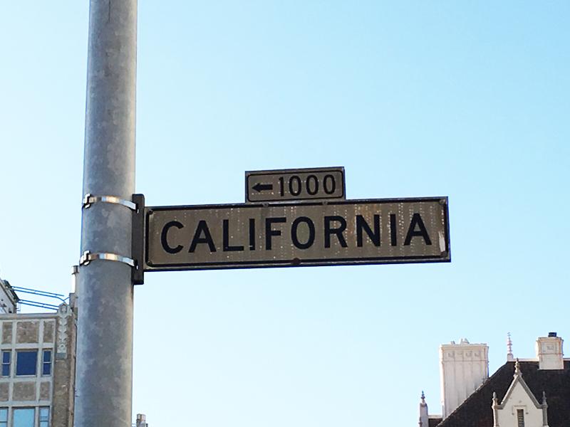 California street sign